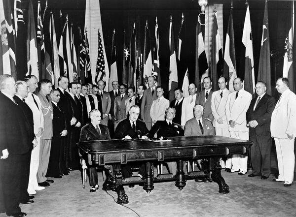 Подписание Декларации Объединенных Наций, 1942 год - Sputnik Латвия