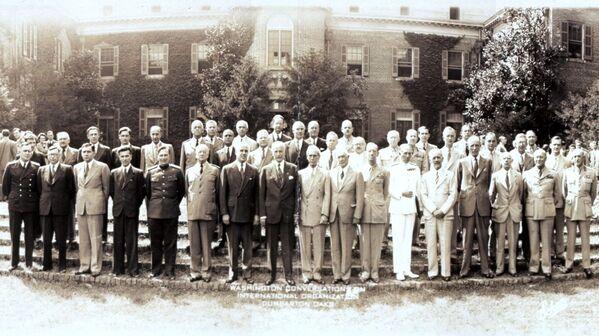 Участники конференции в Думбартон-Оксе, 1944 год - Sputnik Латвия