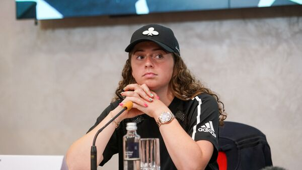 Елена Остапенко. Пресс-конференция в преддверии теннисного турнира в Таллине - Sputnik Латвия
