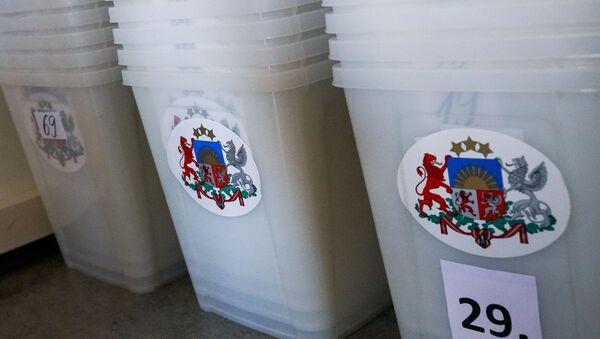 Избирательные урны на выборах в Рижскую думу - Sputnik Latvija