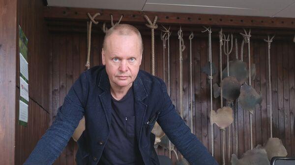 Председатель правления рыбоконсервного АО Brīvais Vilnis в Салацгриве Арнольдс Бабрис. - Sputnik Латвия