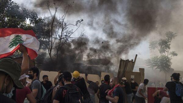 Протесты в Бейруте - Sputnik Latvija