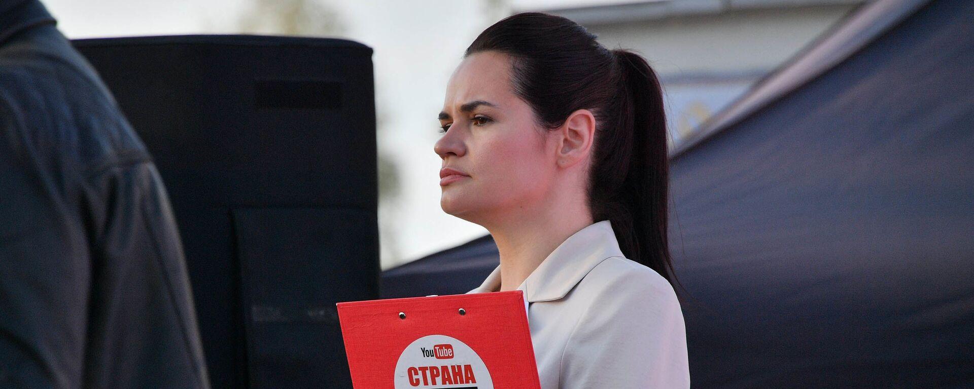 Экс-кандидат в президенты Беларуси Светлана Тихановская - Sputnik Латвия, 1920, 05.07.2021