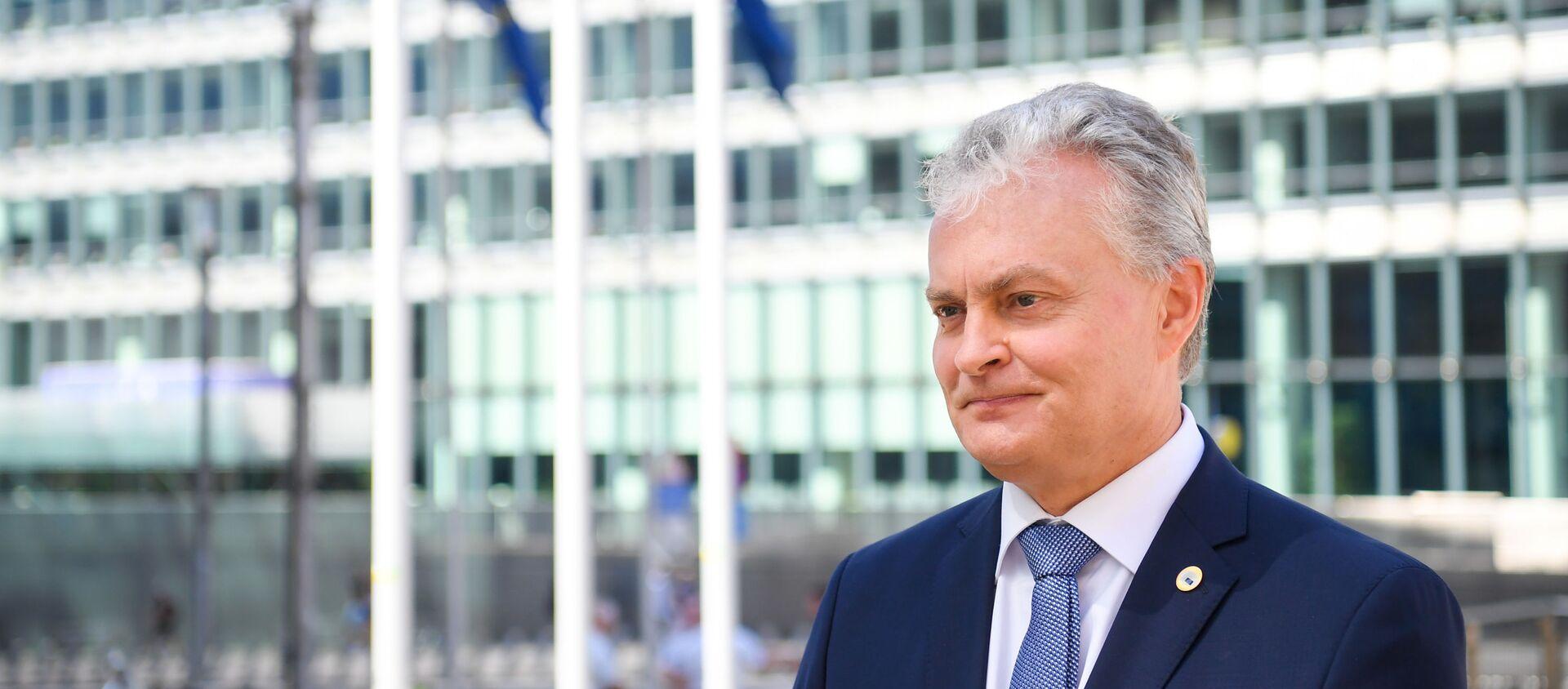 Президент Литвы Гитанас Науседа участвует в заседании саммита ЕС, 19 июля 2020 года - Sputnik Latvija, 1920, 24.09.2020
