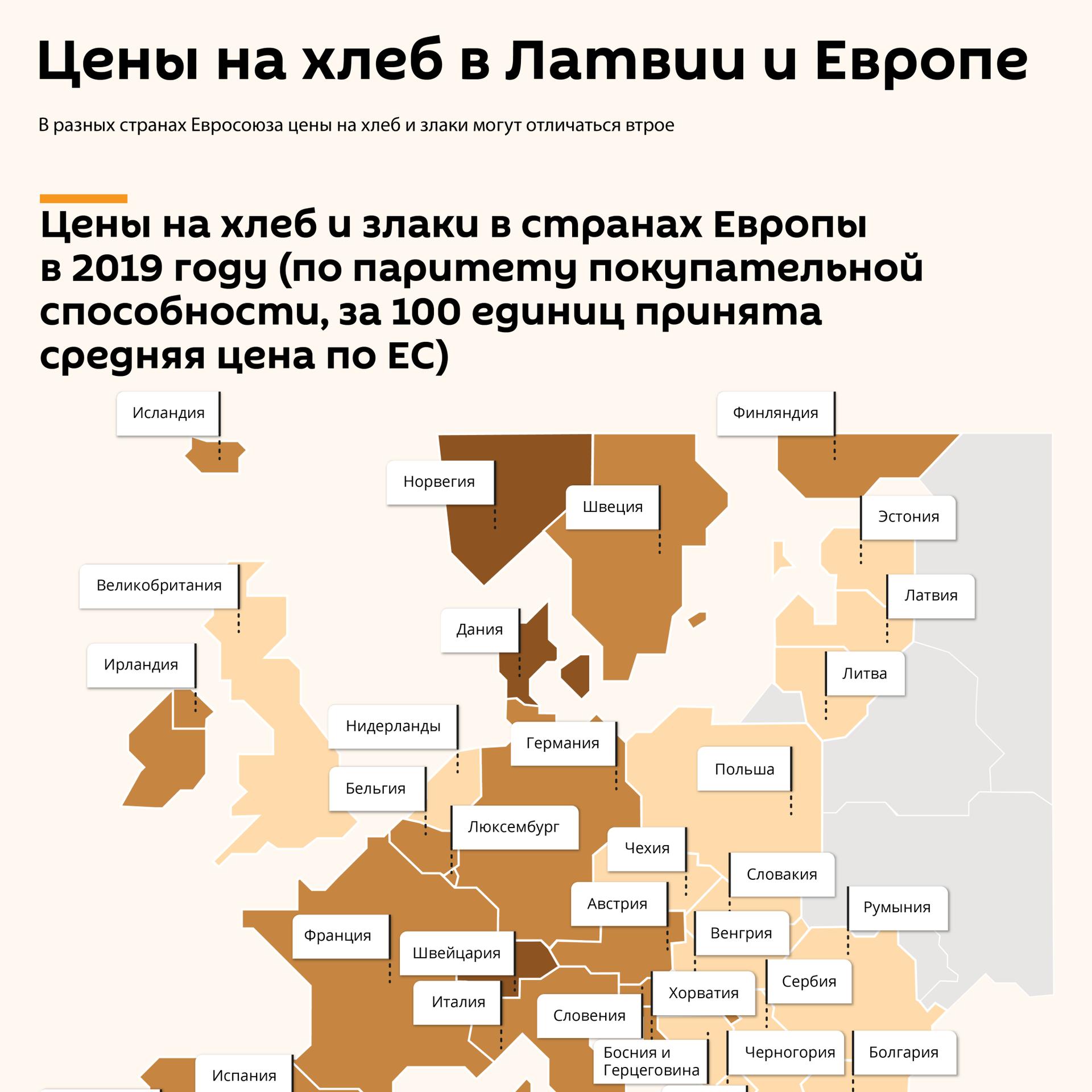 Цены на хлеб в Латвии и Европе - Sputnik Латвия, 1920, 01.06.2021