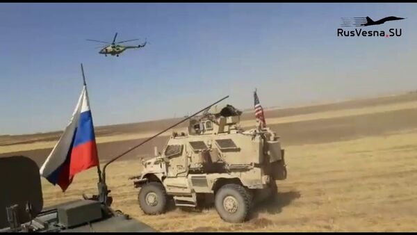 Как армия России гоняла военных США: появилось видео инцидента в Сирии - Sputnik Латвия