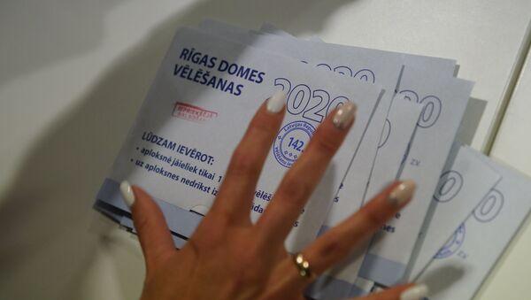 Подсчет голосов на участке №142 в Доме конгрессов - Sputnik Латвия