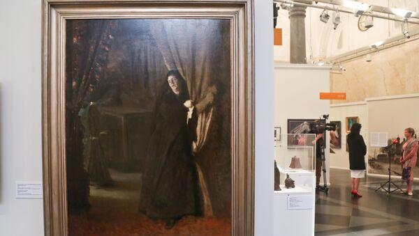 В Большом зале Музея «Рижская биржа» проводится выставка, посвящённая столетию Государственного художественного музея - Sputnik Латвия