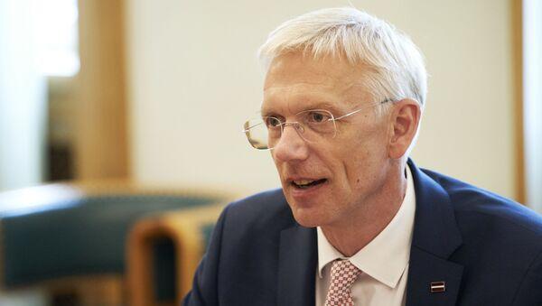Премьер-министр Латвии Кришьянис Кариньш - Sputnik Latvija