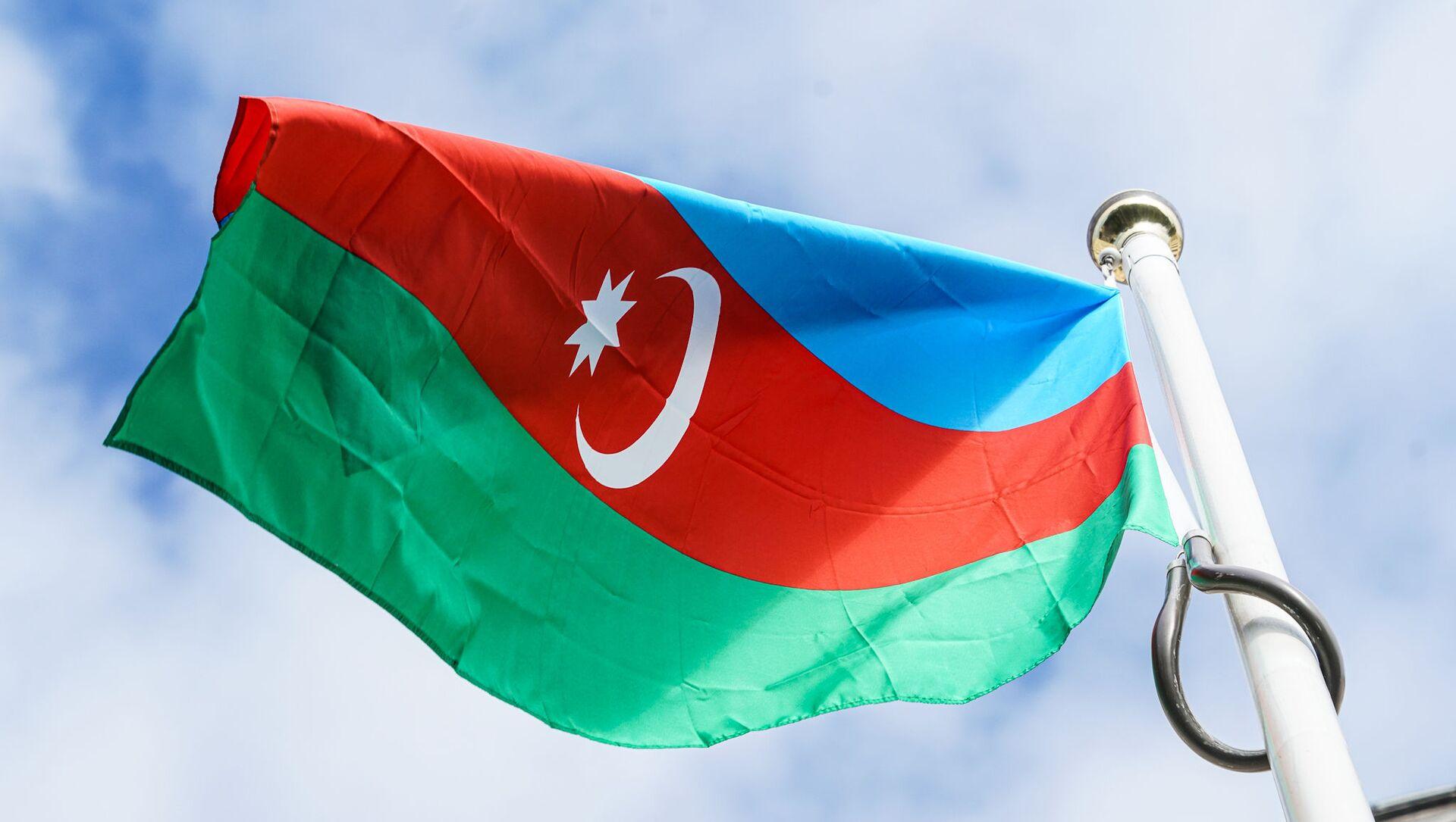 Флаг Азербайджана на посольстве в Риге - Sputnik Латвия, 1920, 07.05.2021