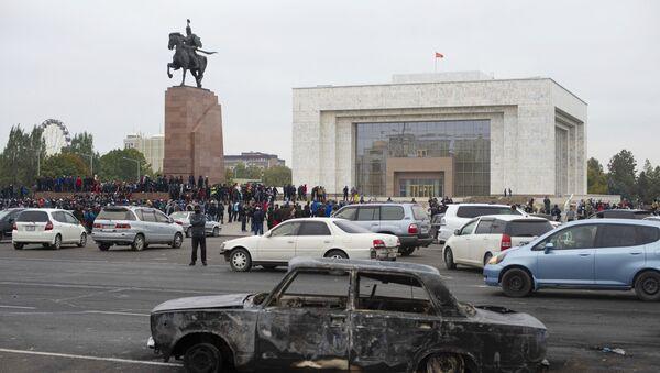 Протесты в Бишкеке - Sputnik Латвия