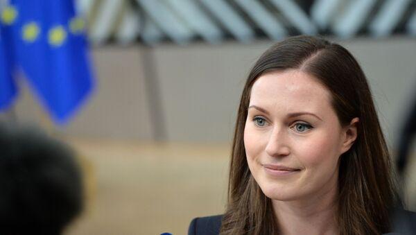 Премьер-министр Финляндии Санна Марин - Sputnik Латвия