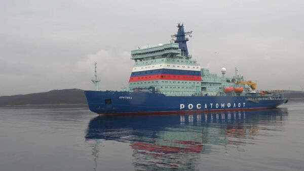 Новейший российский атомный ледокол Арктика прибыл в Мурманск после ходовых испытаний - Sputnik Латвия