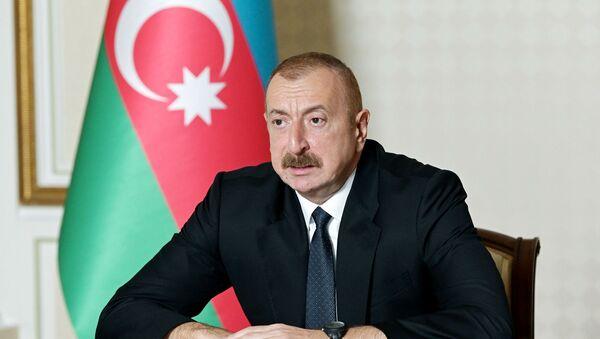 Президент Азербайджана Ильхам Алиев - Sputnik Латвия