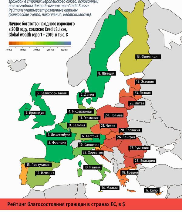 Личное богатство граждан Европы - Sputnik Латвия
