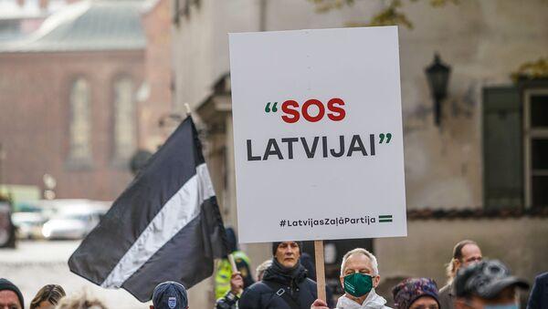 Плакат SOS Латвии - Sputnik Латвия