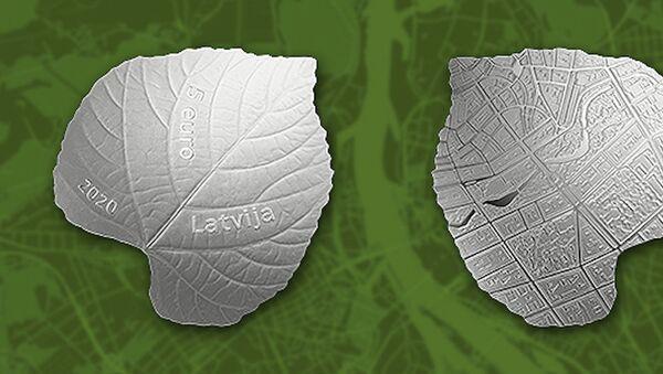 Коллекционная монета Банка Латвии, посвященная заботе об экологии - Sputnik Латвия