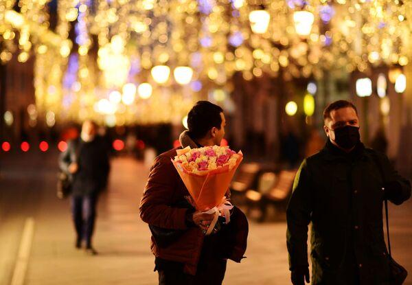 Nikoļskaja ielas Ziemassvētku noformējums - Sputnik Latvija
