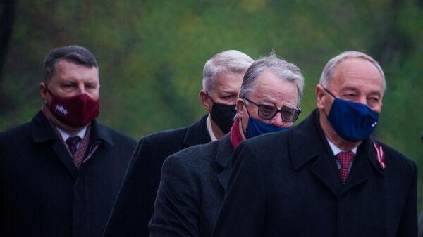 Экс-президенты Латвии Раймондс Вейонис, Валдис Затлерс, Гунтис Улманис и Андрис Берзиньш - Sputnik Латвия