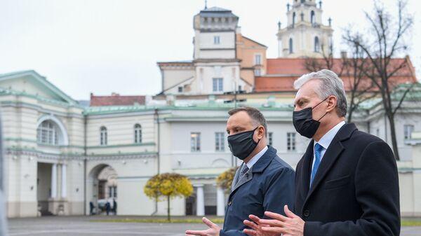 Президенты Польши и Литвы Анджей Дуда и Гитанас Науседа - Sputnik Latvija