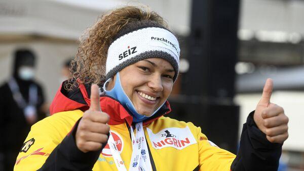 Мариам Яманка на Кубке мира по бобслею и скелетону в Сигулде - Sputnik Латвия