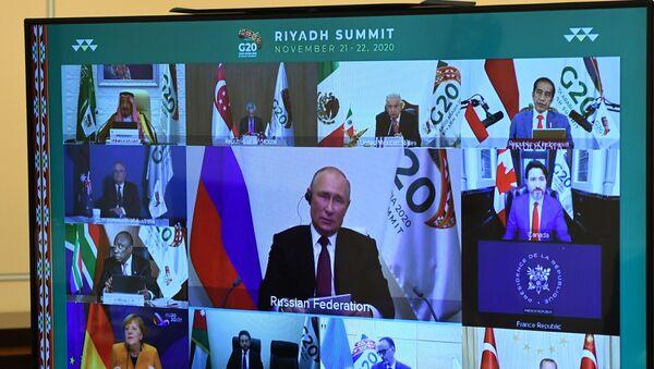 Президент РФ В. Путин принял участие в саммите Группы двадцати - Sputnik Latvija
