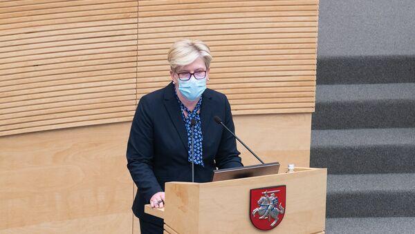 Премьер-министр Литвы Ингрида Шимоните - Sputnik Латвия