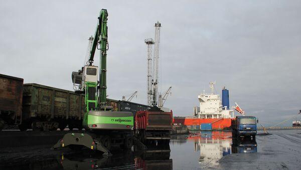 Морской торговый порт Усть-Луга - Sputnik Latvija
