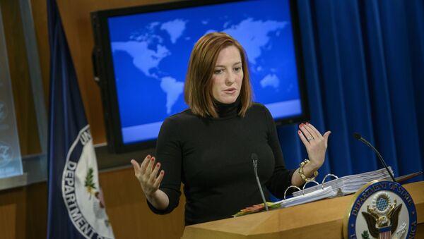 Экс-глава пресс-службы Госдепартамента США Дженнифер Псаки - Sputnik Латвия