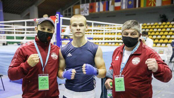 Никита Горбунов представил Латвию на первенстве Европы по боксу среди юниоров 2020 - Sputnik Латвия