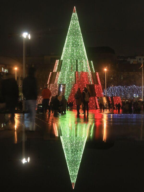 Рождественская елка в Вильнюсе  - Sputnik Латвия