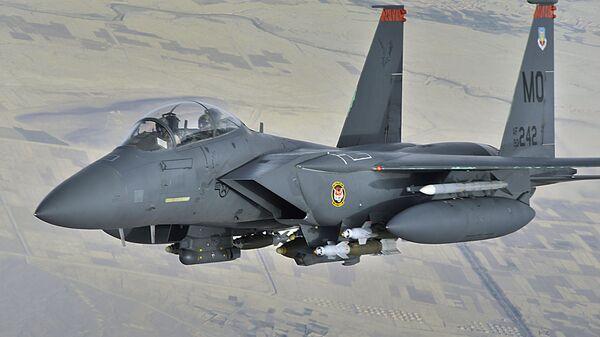Истребитель ВВС США F-15E - Sputnik Latvija