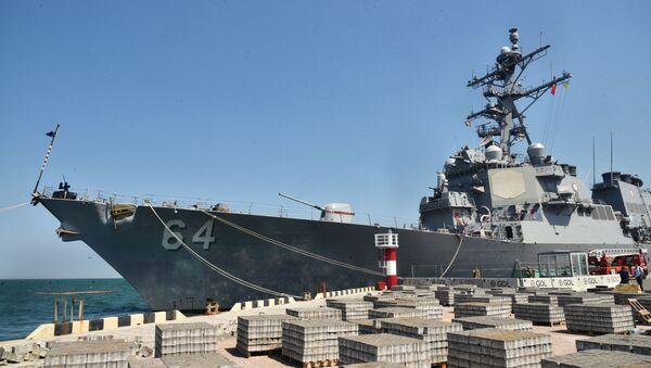 Эсминец ВМС США Carney в морском порту Одессы - Sputnik Latvija