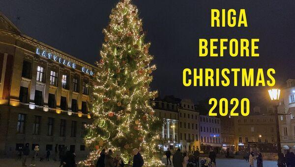 Как выглядит главная рождественская площадь Риги - Sputnik Латвия