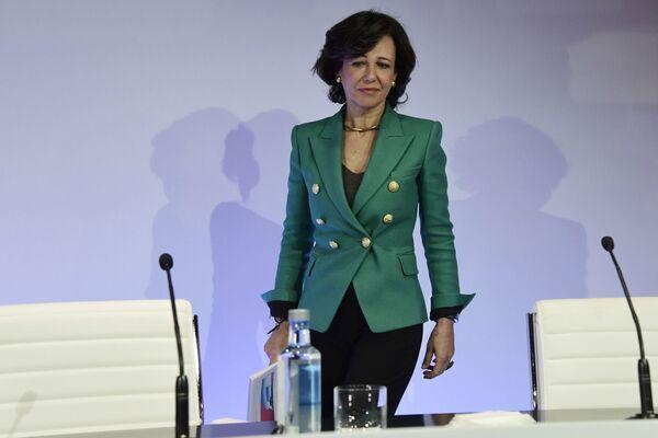 Grupo Santander direktoru padomes priekšsēdētāja Ana Patrisija Botina - Sputnik Latvija