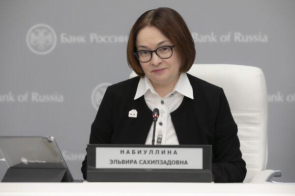 Krievijas Centrālās bankas priekšsēdētāja Elvīra Nabiullina - Sputnik Latvija