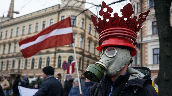 Акция протеста на набережной 11 Ноября в Риге.  - Sputnik Latvija