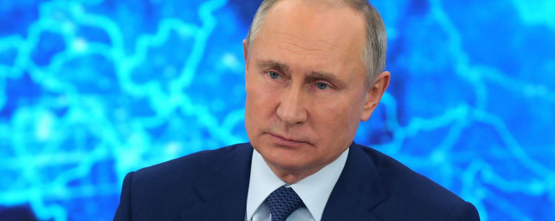 Президент РФ Владимир Путин на большой ежегодной пресс-конференции, 17 декабря 2020 - Sputnik Латвия, 1920, 29.06.2021