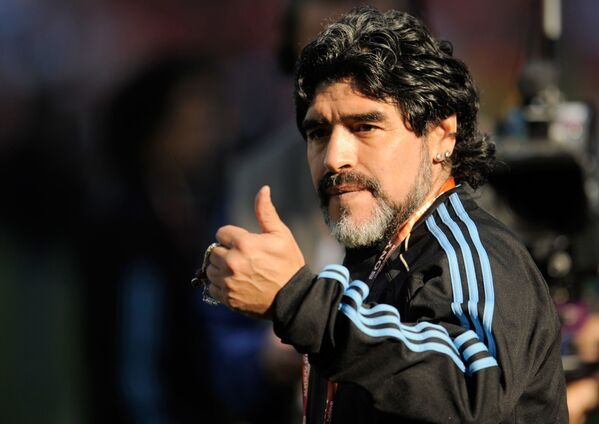 Argentīniešu futbolists un treneris Djego Maradona aizgājis viņsaulē 25. novembrī. Viņam bija 60 gadi - Sputnik Latvija