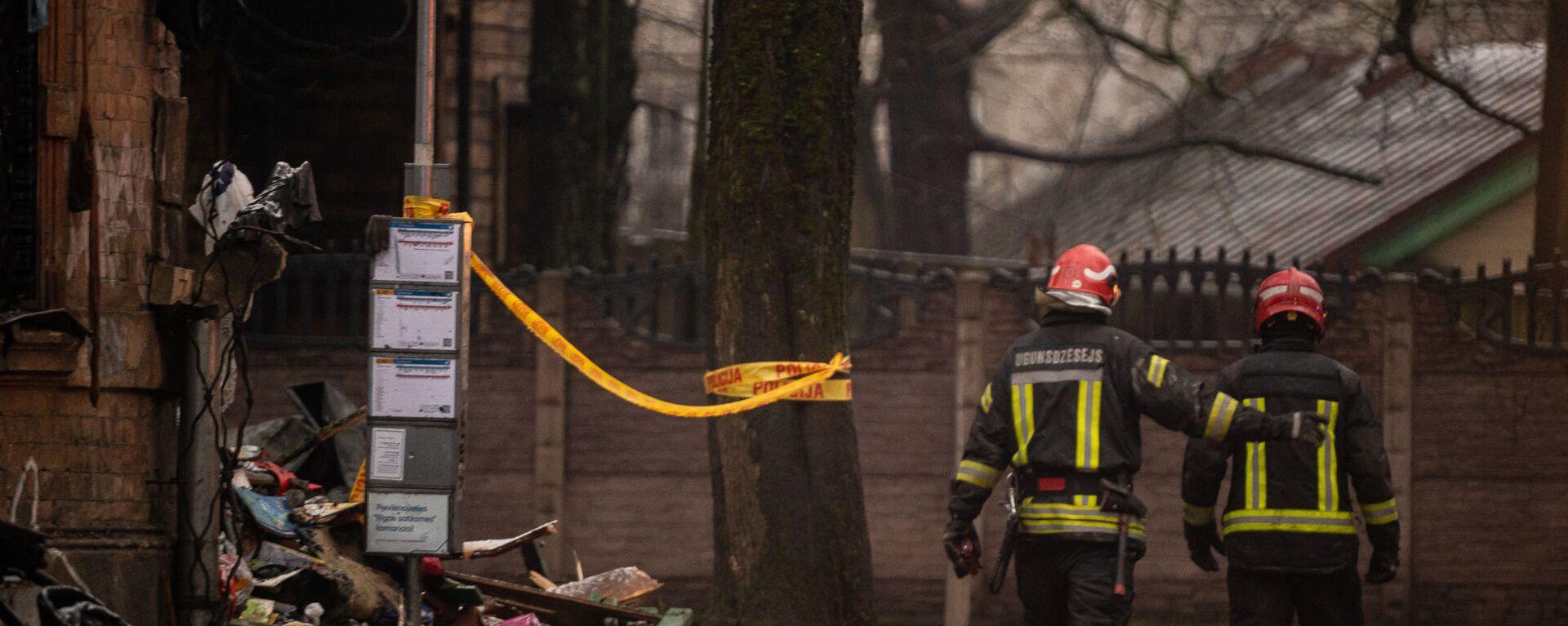 В доме на улице Мелнсила в Риге произошел взрыв - Sputnik Латвия, 1920, 16.02.2021