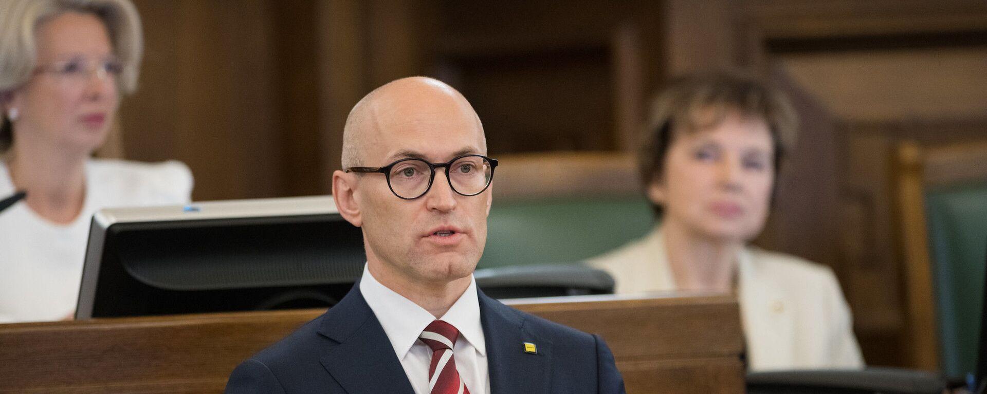 Министр здравоохранения Латвии Даниэль Павлютс - Sputnik Латвия, 1920, 08.10.2021