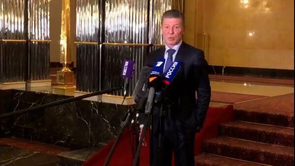 Для Украины было бы самоубийством возобновить боевые действия в Донбассе. Дмитрий Козак - Sputnik Латвия