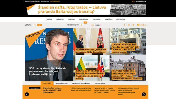 Скриншот главной страницы Sputnik Литва на литовском языке - Sputnik Латвия