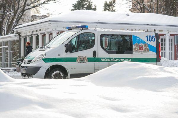 Машина полиции самоуправления Риги - Sputnik Латвия