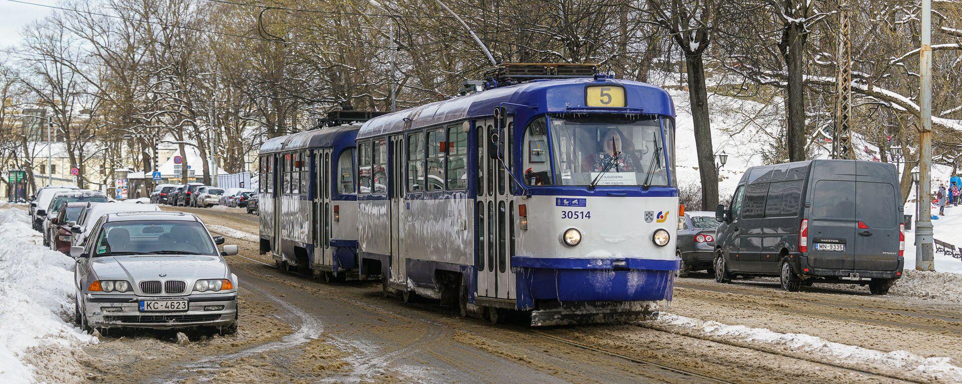 Трамвай зимой в Риге - Sputnik Латвия, 1920, 11.03.2021