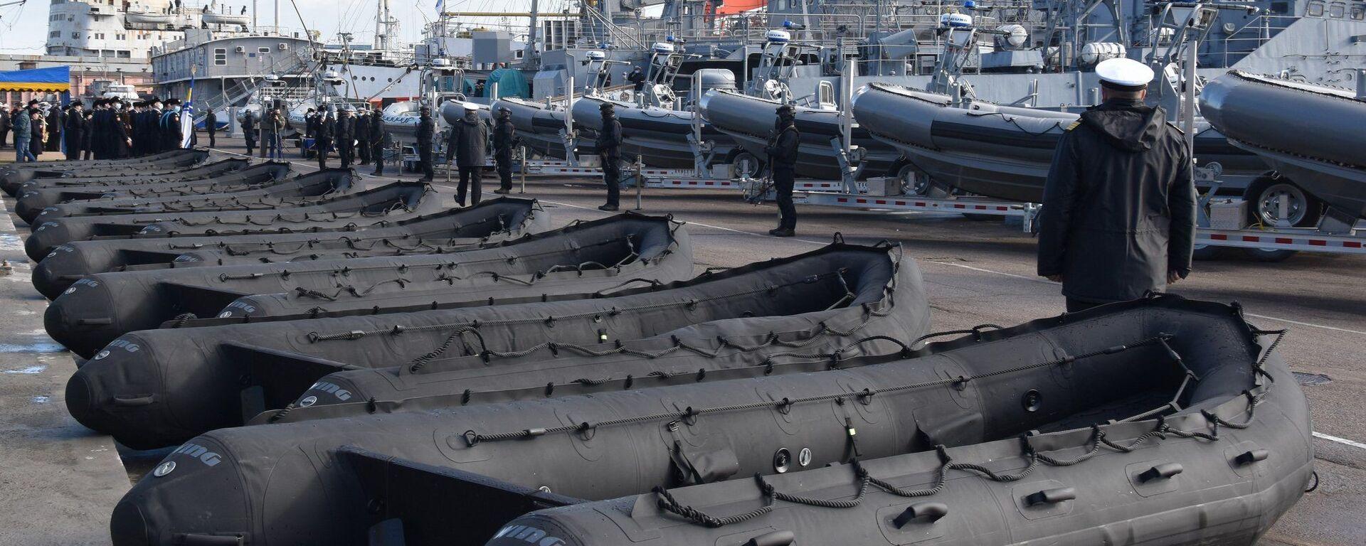 Церемония передачи американских катеров и лодок ВМС Украины в Одессе - Sputnik Латвия, 1920, 12.02.2021