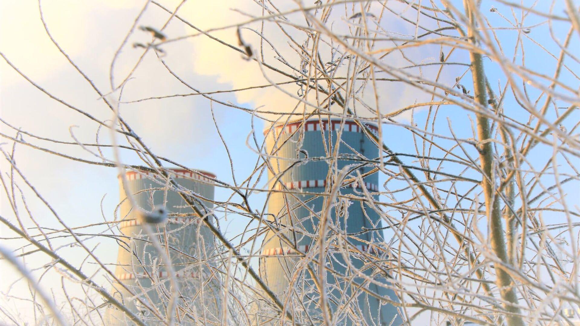 Белорусская атомная электростанция зимой - Sputnik Latvija, 1920, 12.10.2021
