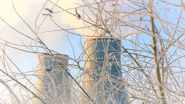 Белорусская атомная электростанция зимой - Sputnik Latvija