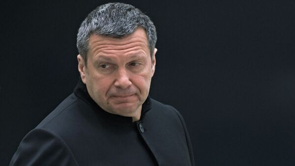 Журналист, теле- и радиоведущий Владимир Соловьев - Sputnik Латвия