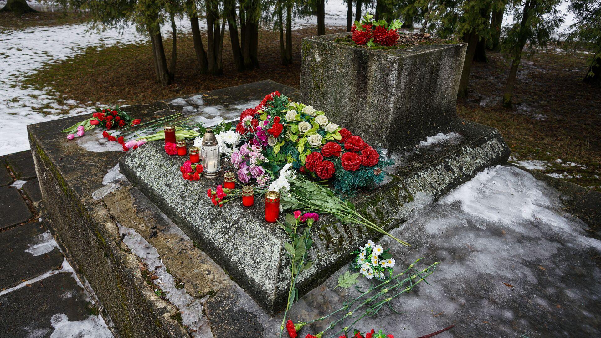 В ночь на 24 февраля в Екабпилсе вандалы украли пушку ЗиС-3 с могилы героев-освободителей Екабпилса от нацистских захватчиков - Sputnik Латвия, 1920, 26.02.2021